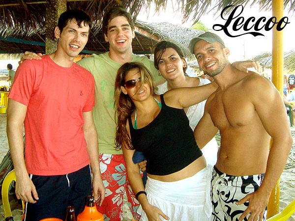 Pablo, Romero, Poly, Olívia e eu